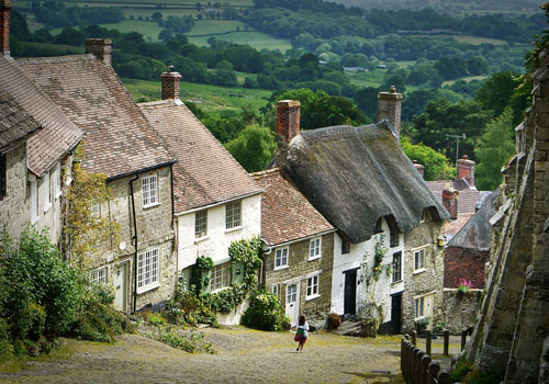 Character filled English village